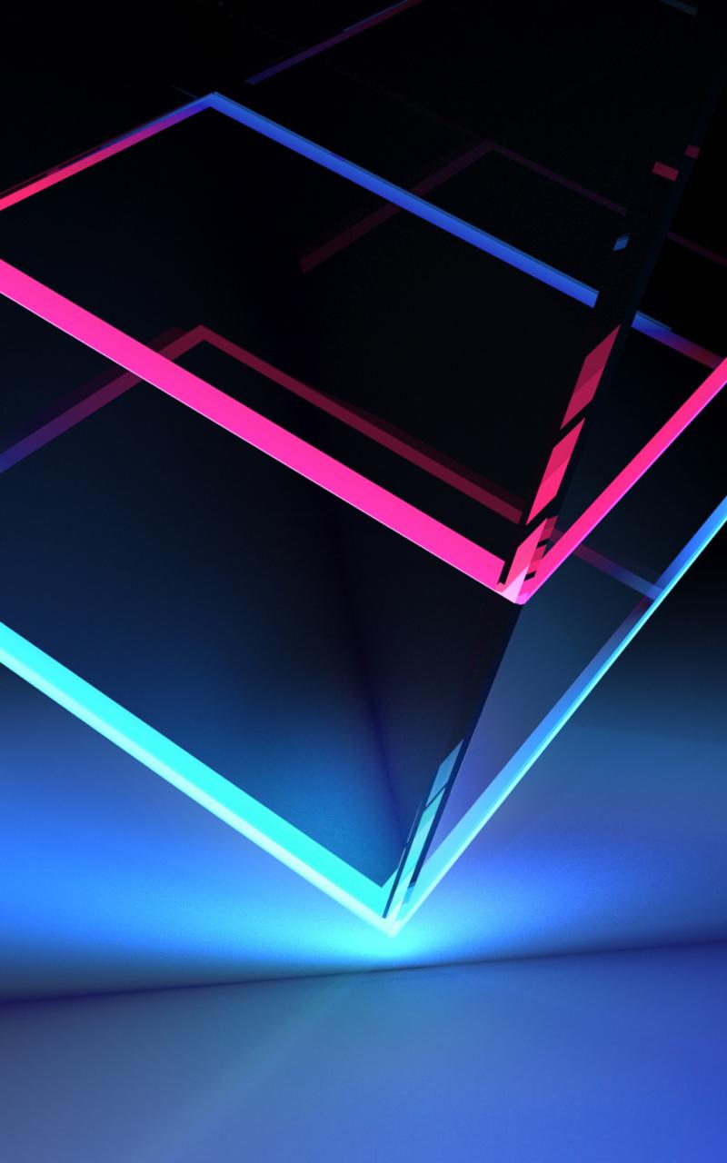 Download 800x1280 wallpaper edge, colorful, glassy, neon ...