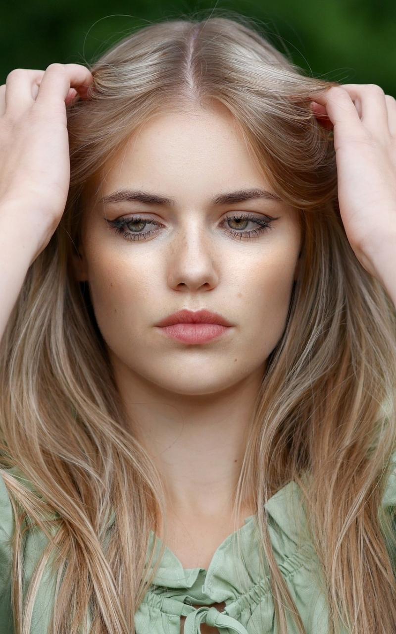 Pretty woman, blonde, model, beautiful, 800x1280 wallpaper