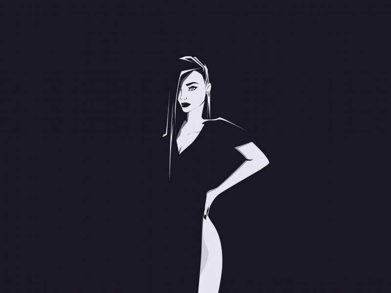 Minimal, urban woman, art, 800x600 wallpaper