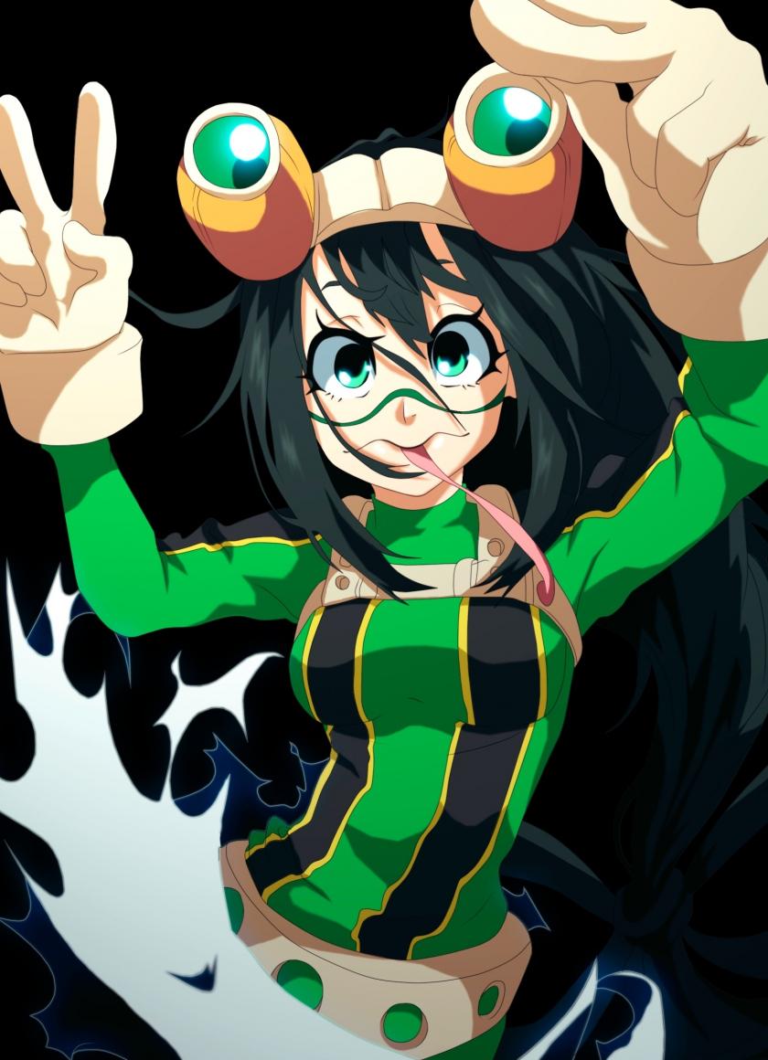 Download 840x1160 Wallpaper Tsuyu Asui Boku No Hero