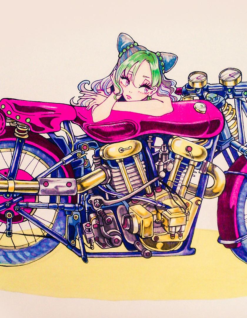 Download 840x1160 Wallpaper Bike Anime Girl Jolyne Cujoh Jojo S