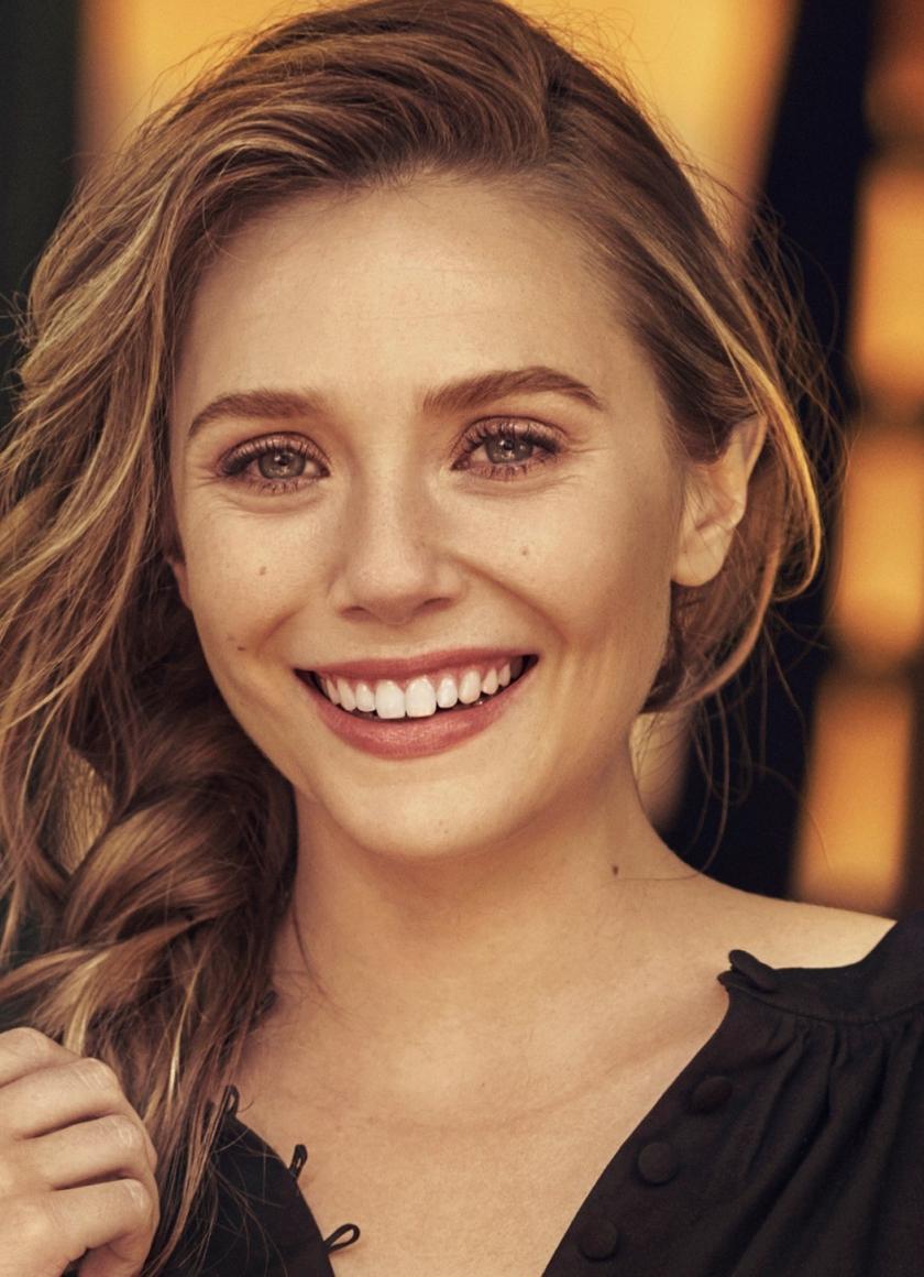 Beautiful Smile Elizabeth Olsen Photoshoot 840x1160 Wallpaper