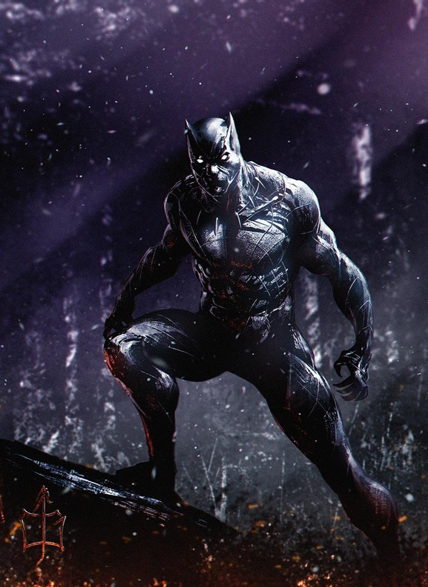 Download 840x1160 Wallpaper Dark Superhero Marvel Black