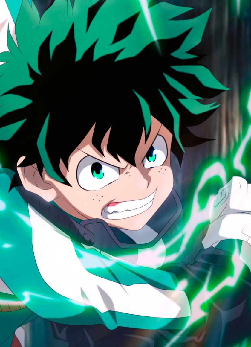 Download 840x1160 Wallpaper Izuku Midoriya Angry Anime Boy