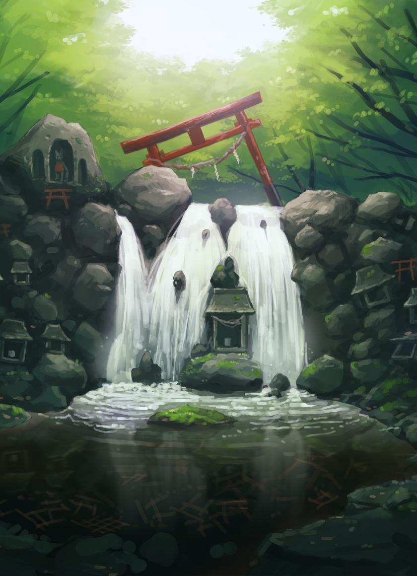 Download 840x1160 Wallpaper Original Anime Artwork Water