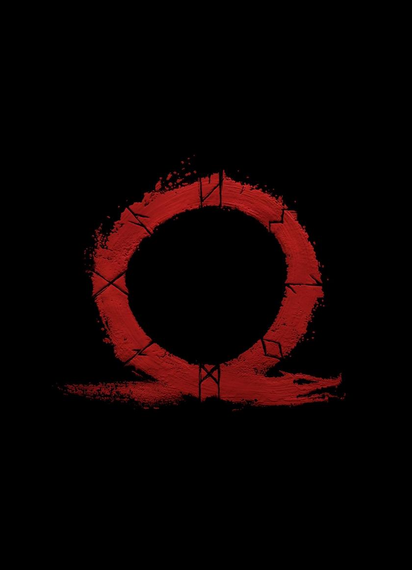 Download 840x1160 wallpaper god of war, omega, logo, video ...