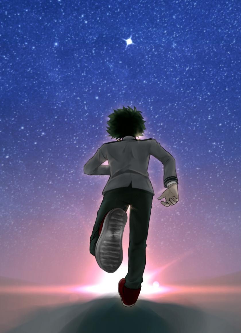 Download 840x1160 Wallpaper Run Anime Boy Izuku Midoriya