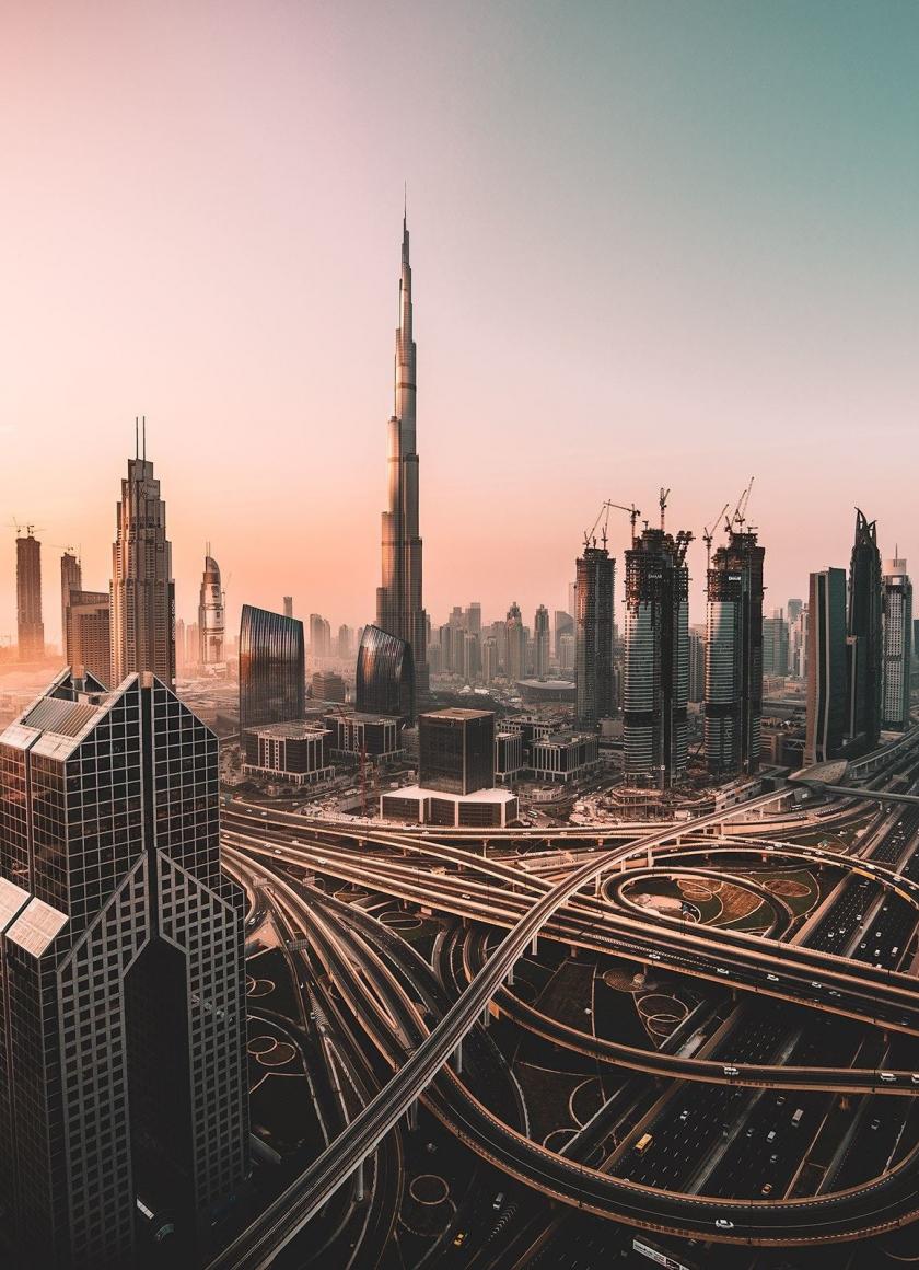 Dubai, skyline, cityscape, skyscrapers, buildings, Burj Khalifa, city, 840x1160 wallpaper