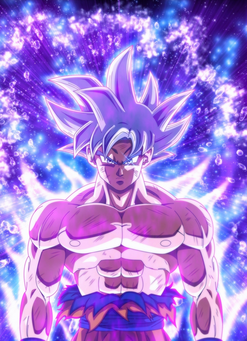 Download 840x1160 Wallpaper Ultra Instinct Goku Dragon