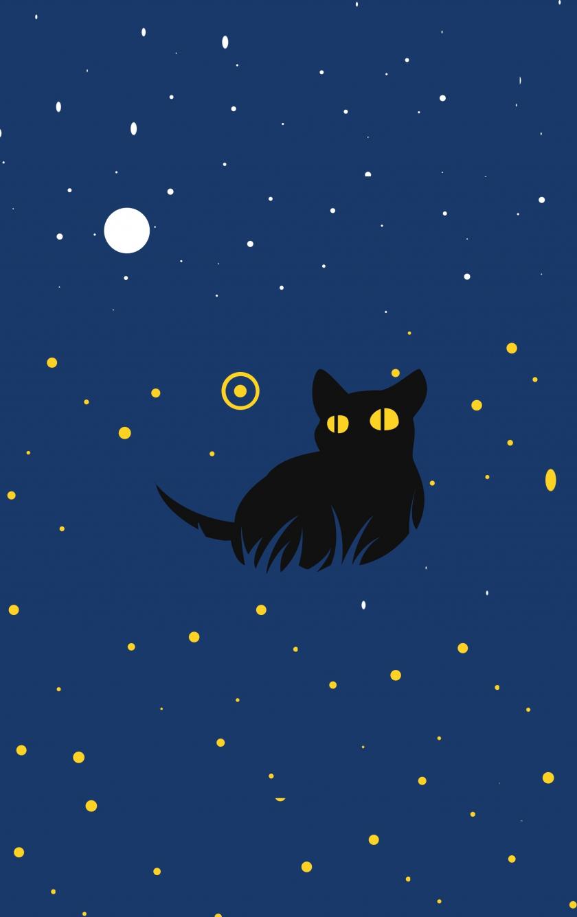 cat, minimal art, iphone ...