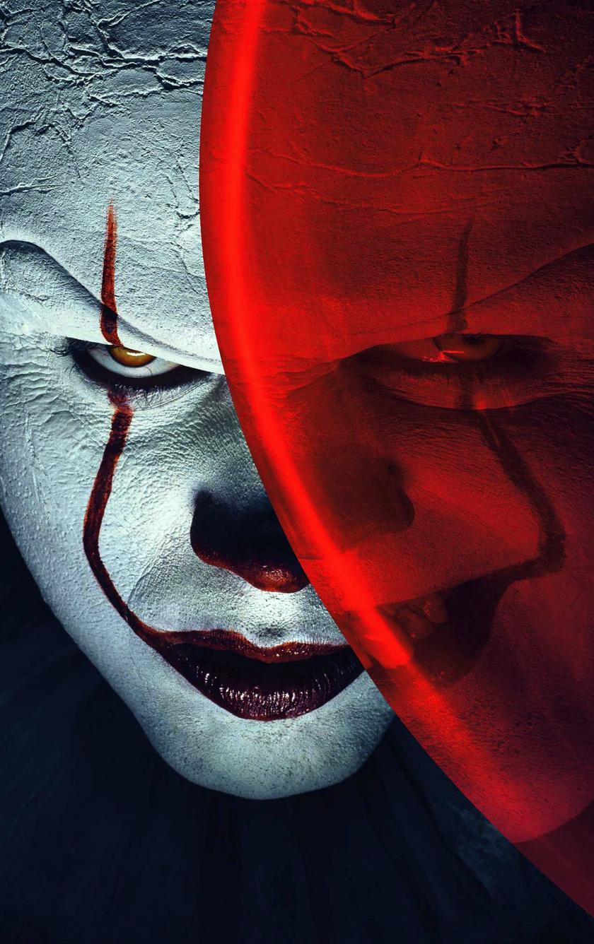 Joker, clown, it, balloon, movie, 840x1336 wallpaper