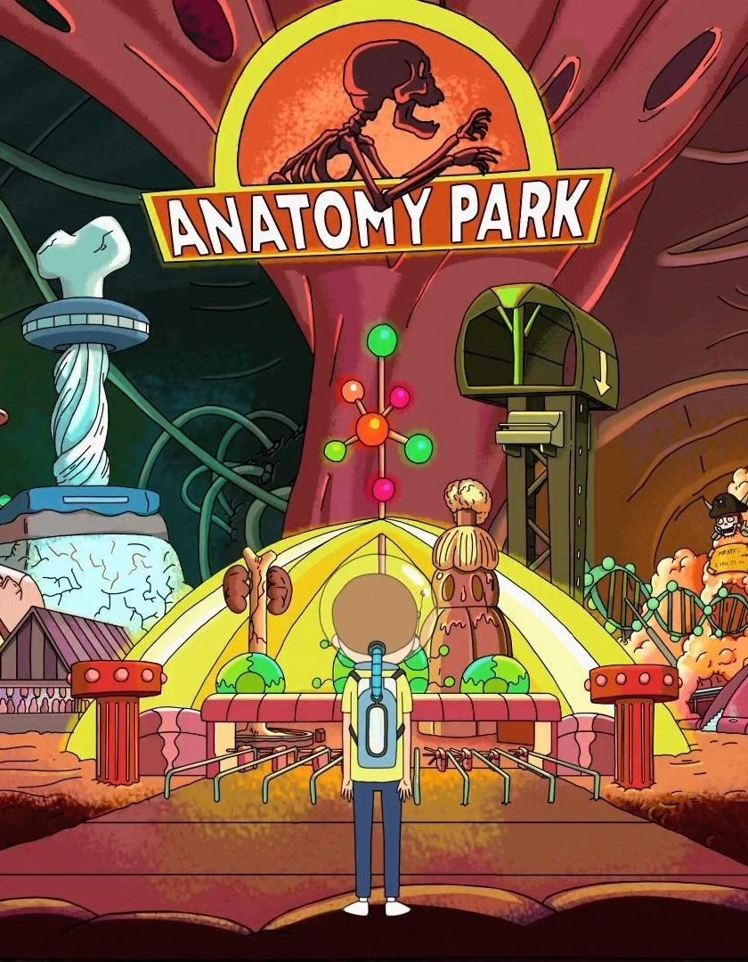 Download 840x1336 wallpaper tv show, rick and morty, anatomy park ...
