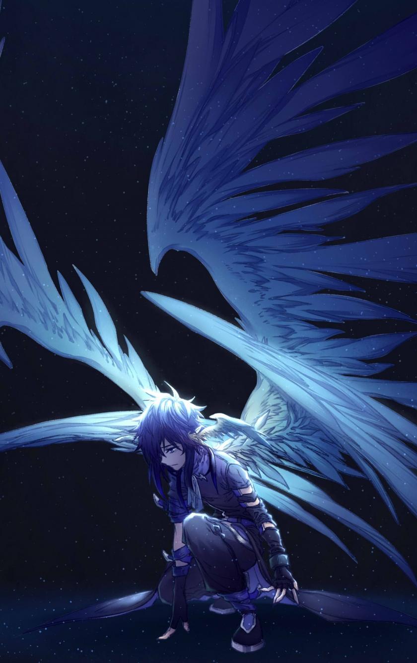 Wonderful Wallpaper Anime Iphone 5c - dark-wings-angel-anime  2018_37549      .jpg