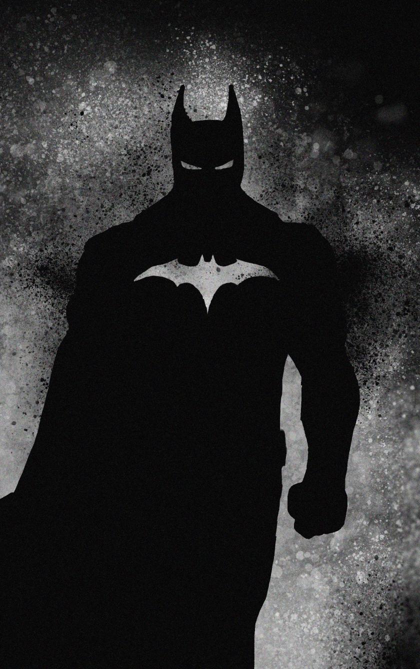 Download 840x1336 Wallpaper Dark Knight Batman Superhero Art