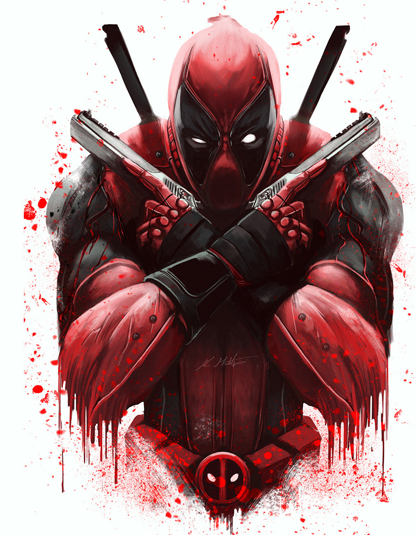 Download Wallpaper Marvel Iphone 5 - marvel-deadpool-artwork  Pictures_103625.jpg