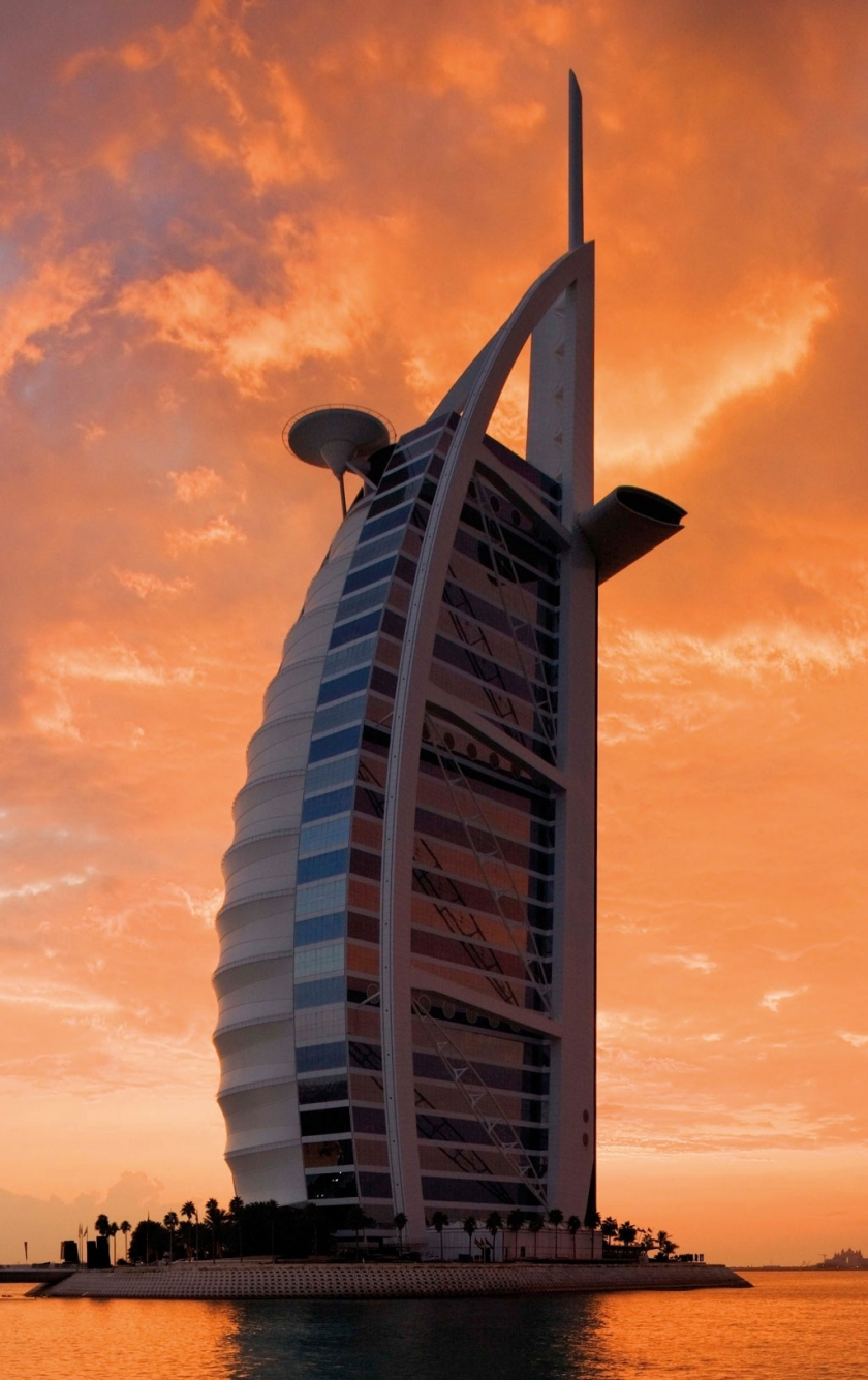 Download 840x1336 Wallpaper Architecture Hotel Sunset
