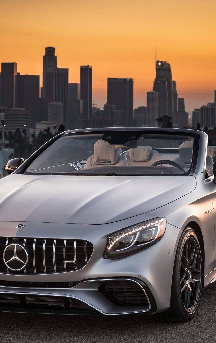Mercedes-AMG S63 4MATIC Cabriolet, sports car, 840x1336 wallpaper
