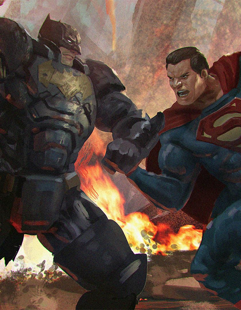 Download 840x1336 Wallpaper Batman Vs Superman Superhero S Fight