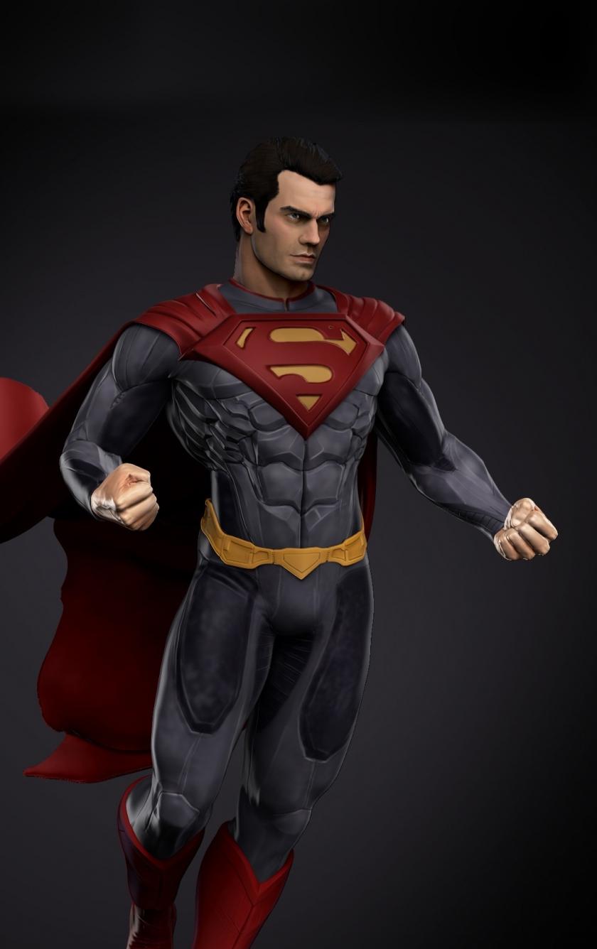 Download 840x1336 Wallpaper Man Of Steel Superman Fan Art