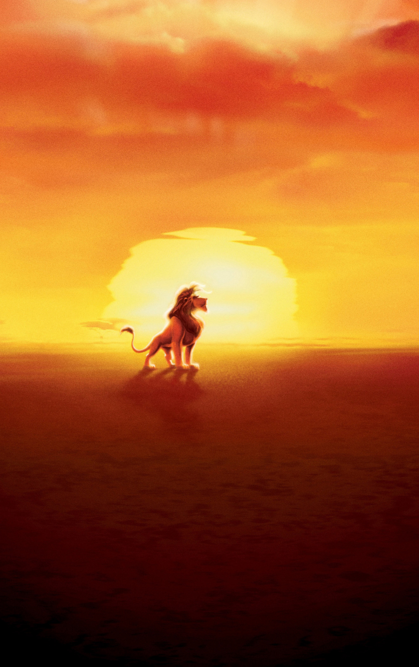 Download 840x1336 Wallpaper The King Simba The Lion King