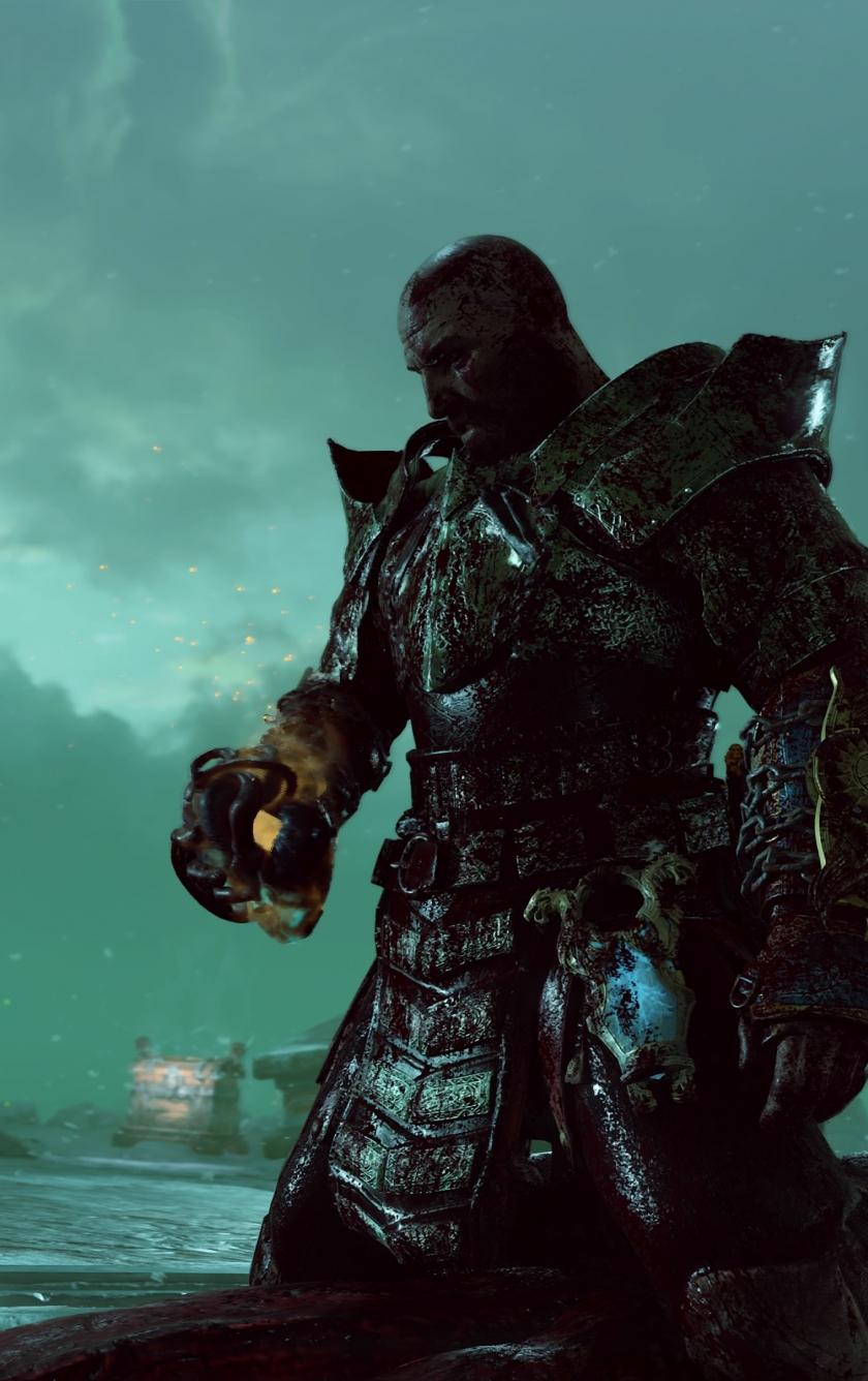 Download 840x1336 Wallpaper God Of War Warrior Kratos Video