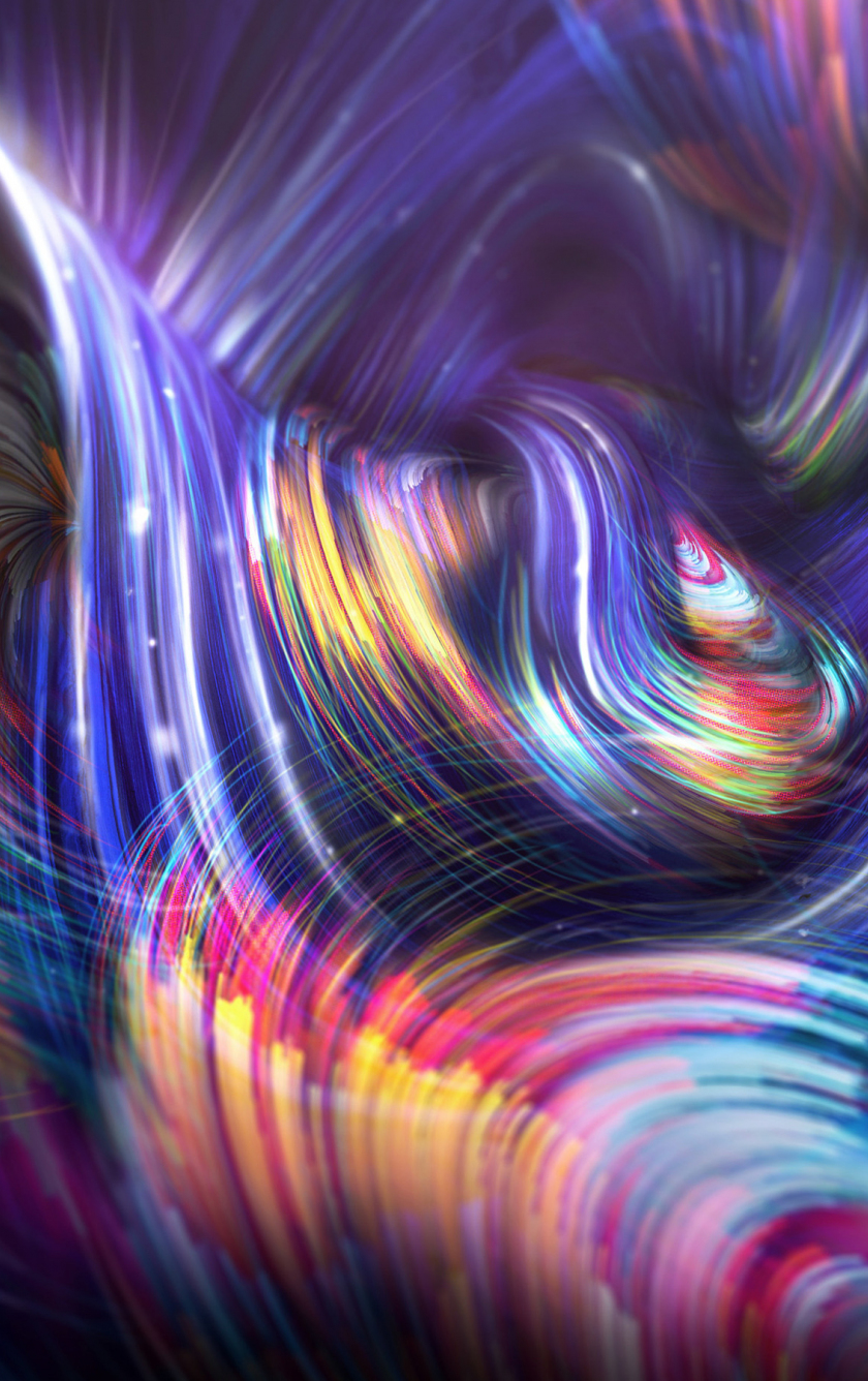 download 840x1336 wallpaper colorful, lines, abstract, glowing