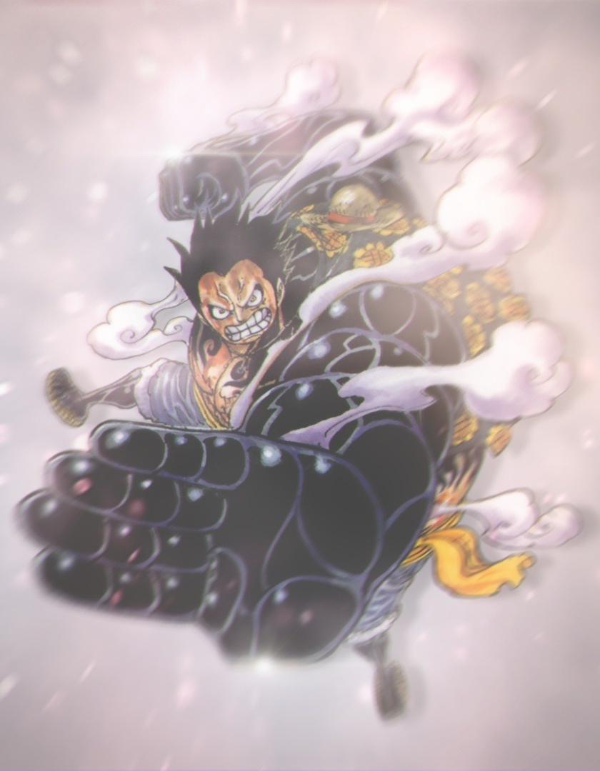 Download 840x1336 Wallpaper Monkey D Luffy Black Fist One