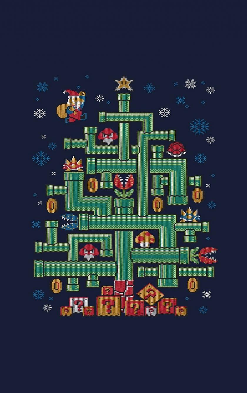 Minimal, Mario, 8 Bit Pixel Art, 840x1336 Wallpaper