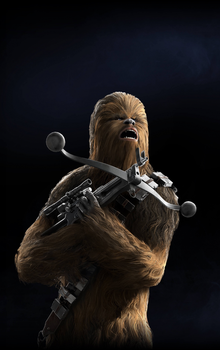 Chewbacca Star Wars Battlefront II Video Game 840x1336 Wallpaper