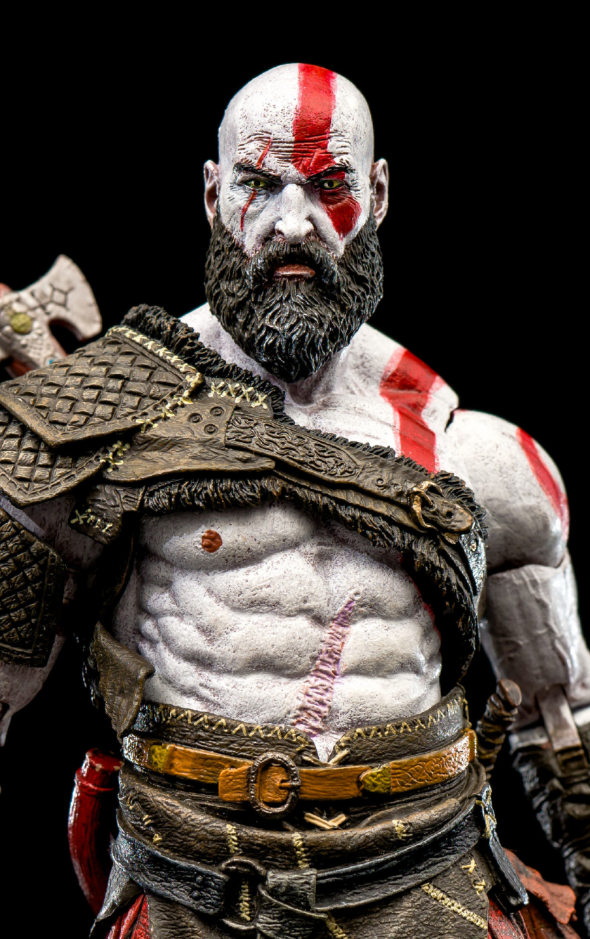 Download 840x1336 Wallpaper Kratos God Of War Warrior