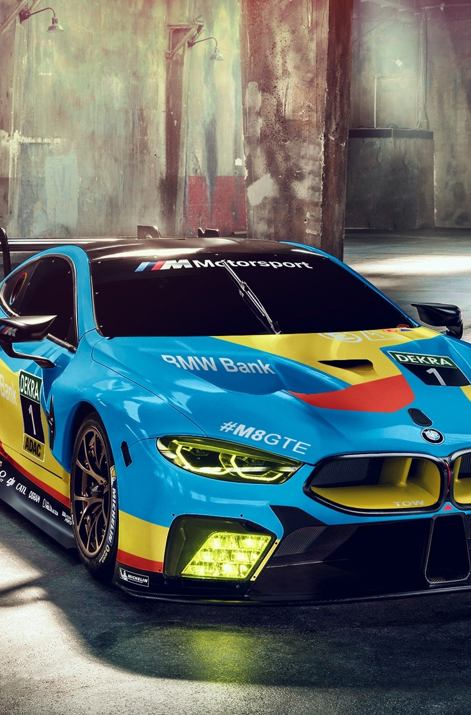 Download 950x1534 Wallpaper Bmw M8 Gte Front Sports Car Iphone