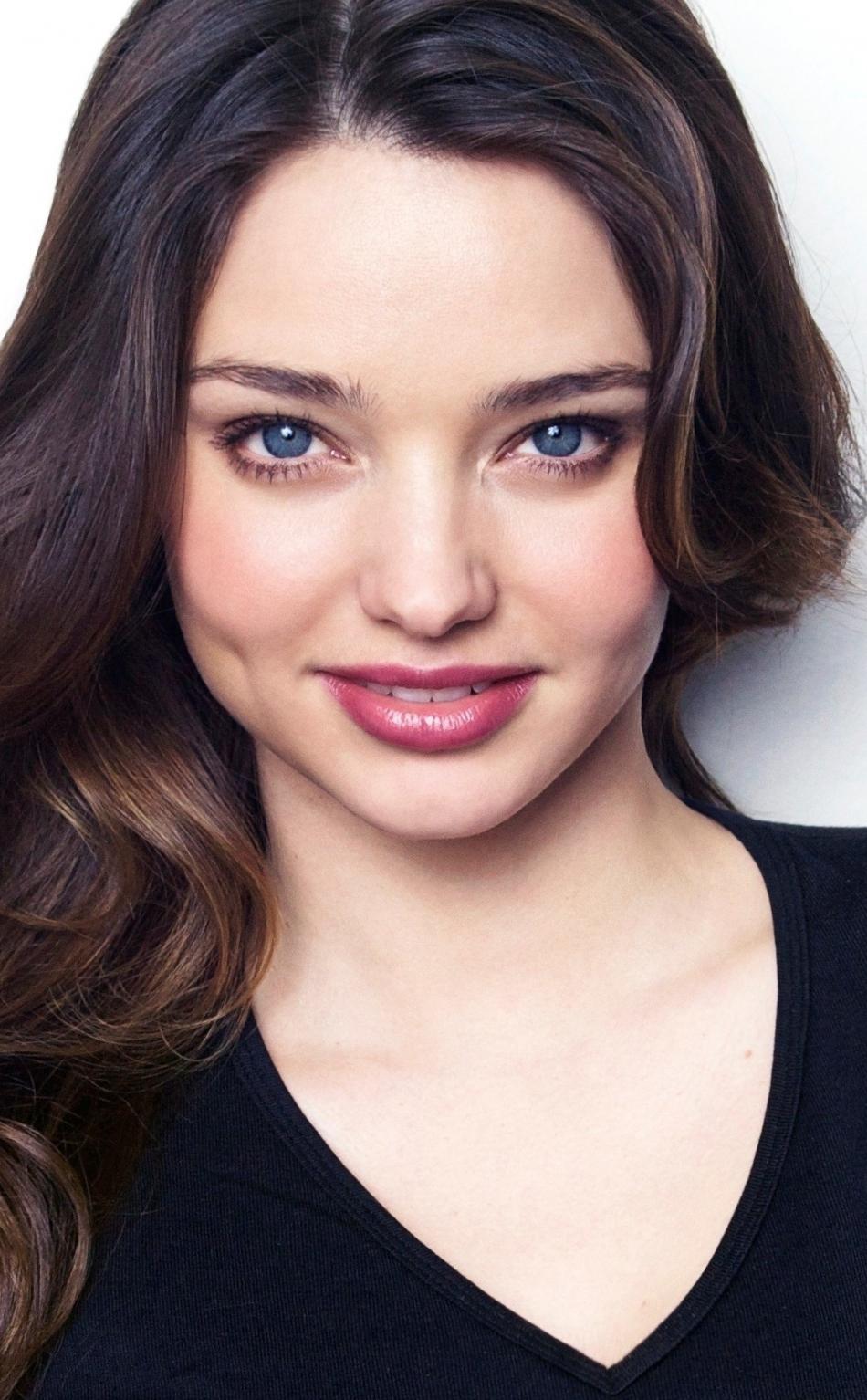 Download 950x1534 wallpaper smile, blue eyes, beautiful ...