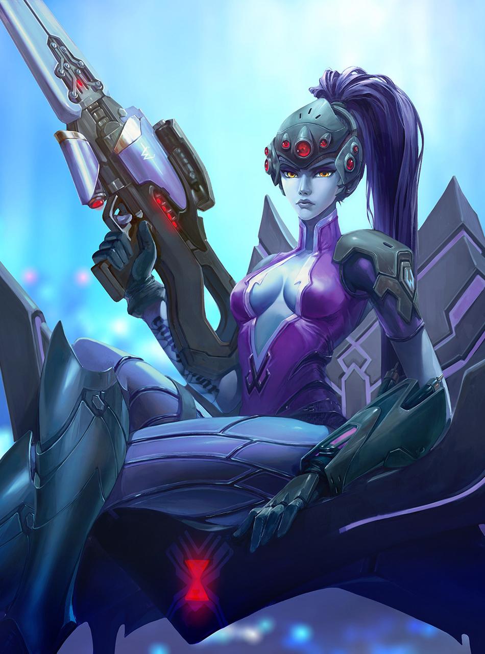 Download 950x1534 Wallpaper Widowmaker Overwatch Game Sniper
