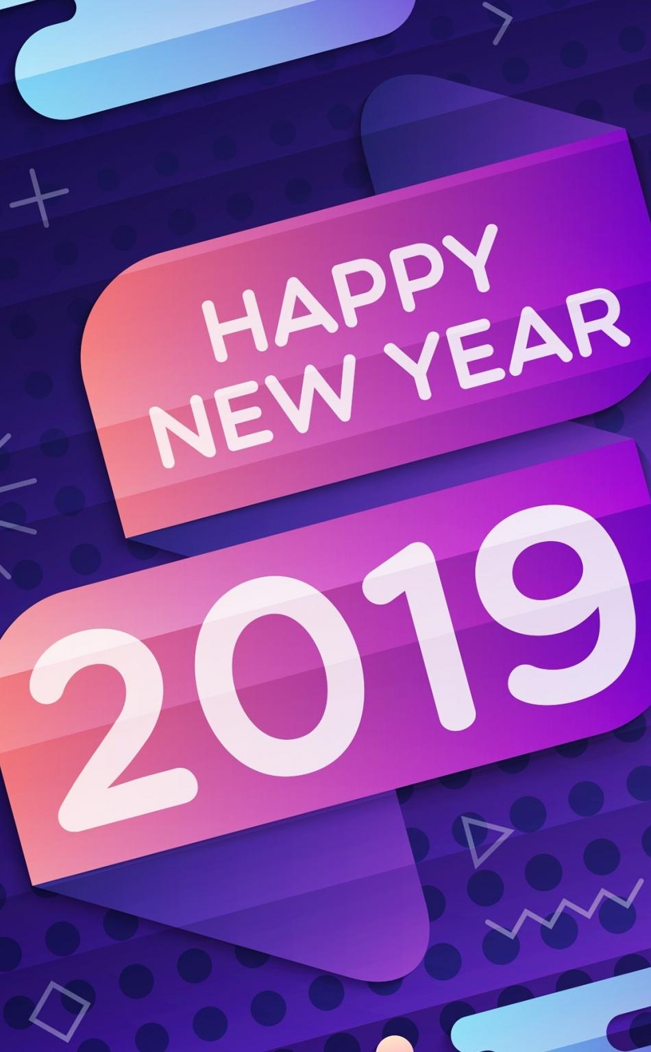 Download 950x1534 Wallpaper 2019 Happy New Year