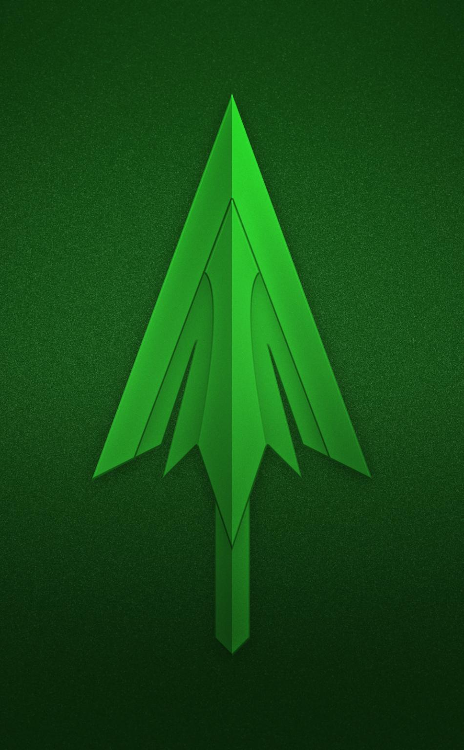 Download 950x1534 Wallpaper Green Arrow Logo Minimal Iphone