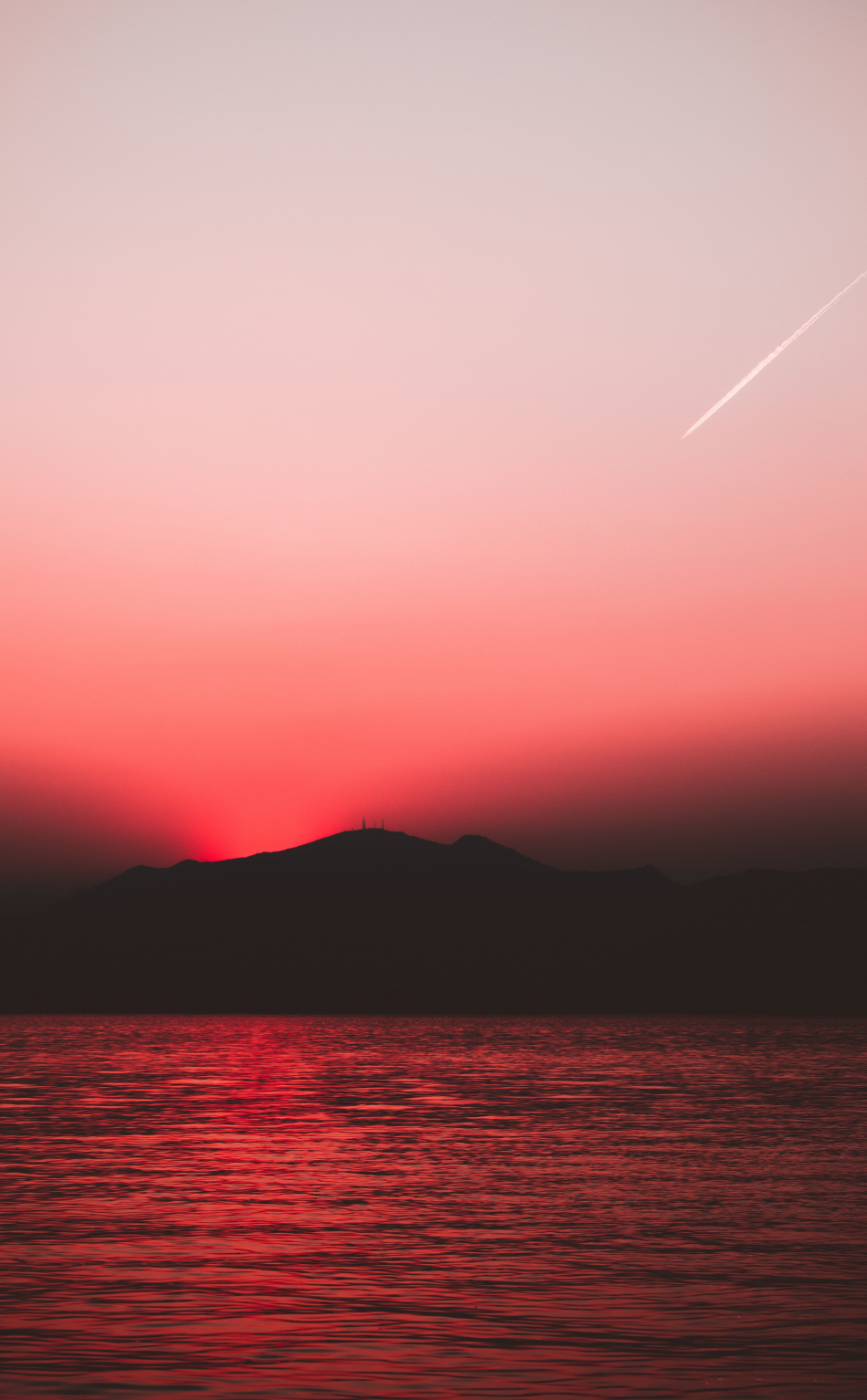 Download 950x1534 Wallpaper Sunset Red Sky Sunset Nature