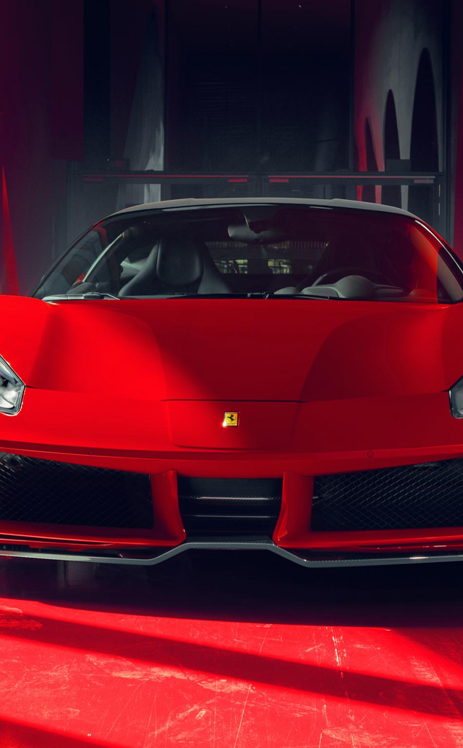 Download 950x1534 Wallpaper 2018 Pogea Racing Fplus Corsa Ferrari 488 Gtb Front Iphone 950x1534 Hd Image Background 7430