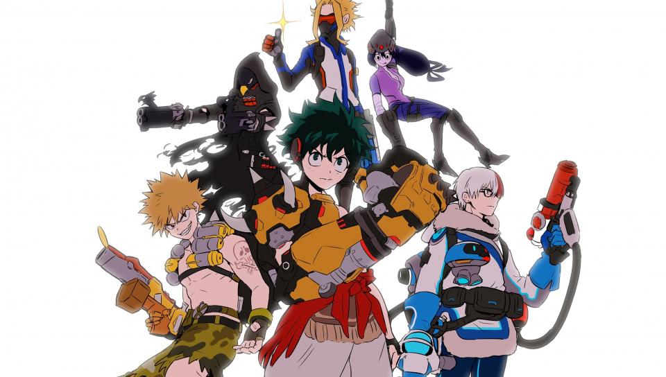 Anime Boku No Hero Academia Characters Art 960x544 Wallpaper