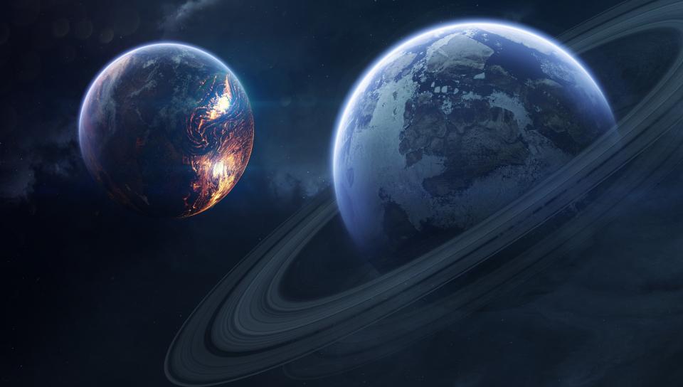 Saturn planet rings 4k