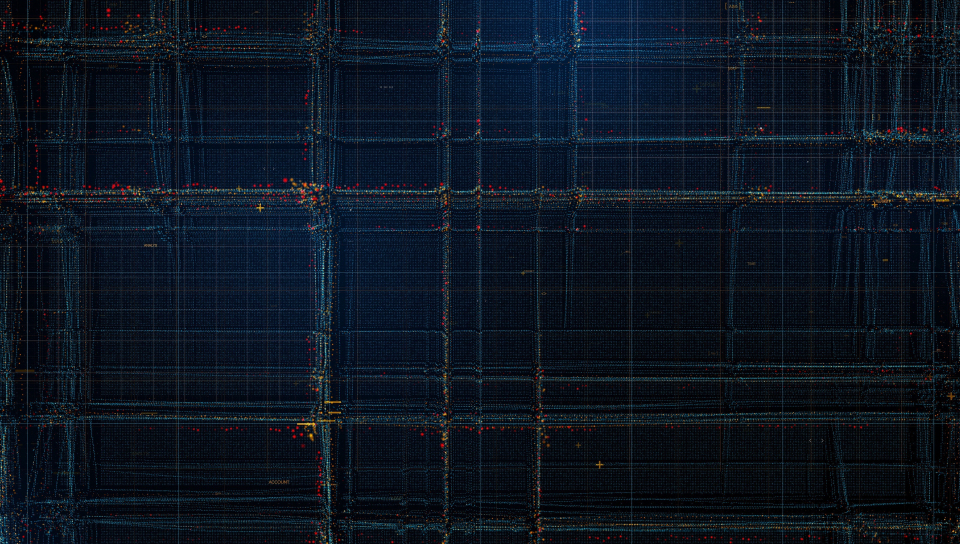 Particles, structure, lines, pattern, dark, 960x544 wallpaper