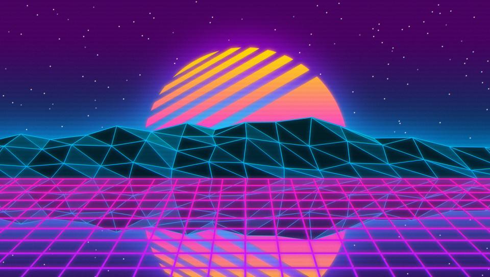Download 960x544 Wallpaper Vaporwave Retro Sun Mountains