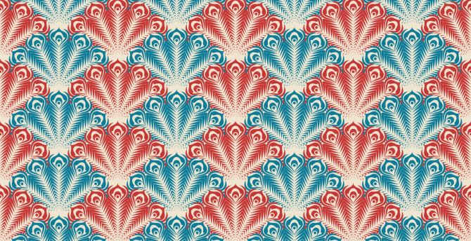 Retro, texture, floral, patterns wallpaper