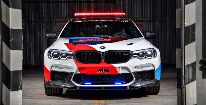 Bmw m5 motogp safety car 2018 4k