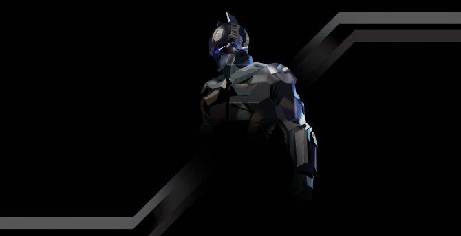 Desktop Wallpaper Batman Arkham Knight Black Edition Art Hd