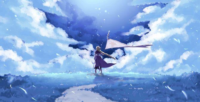 Desktop Wallpaper Fate Grand Order Ruler Anime Girl Landscape