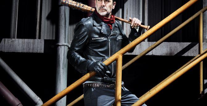 Jeffrey Dean Morgan Negan The Walking Dead Tv Show Wallpaper