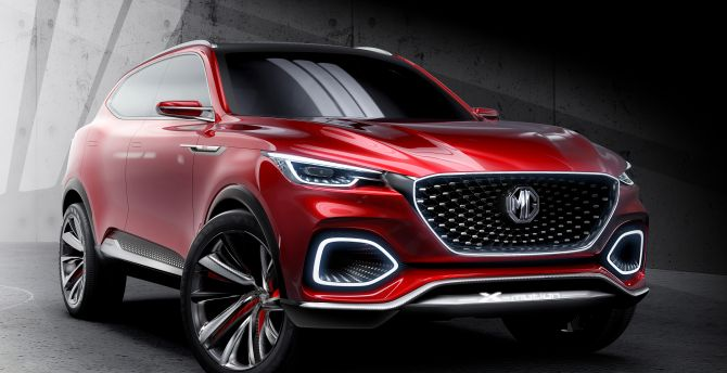 MG X-Motion Concept, SUV, red car wallpaper