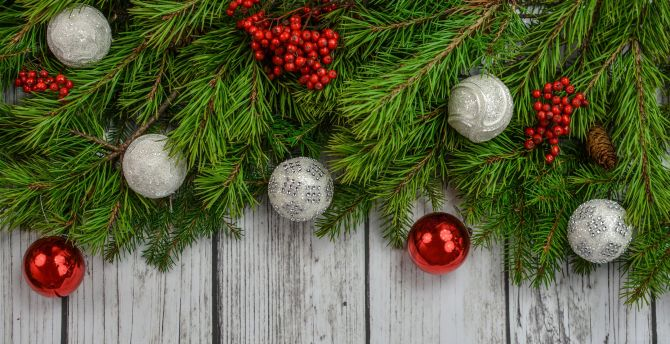 Decorations, Christmas, holiday, 4k wallpaper