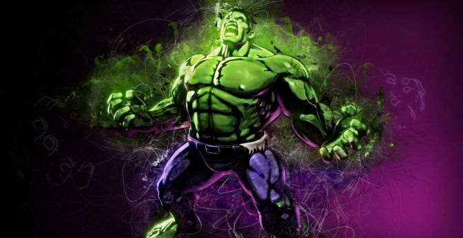 Angry hulk, marvel, superhero, fan art wallpaper