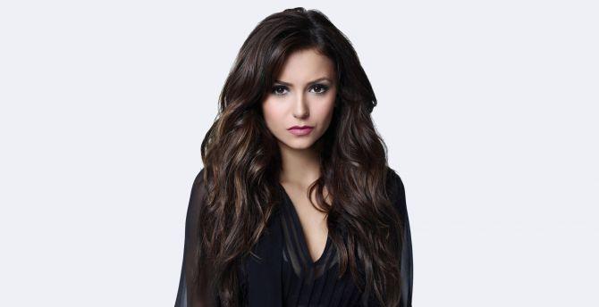 desktop wallpaper nina dobrev, long hair, 2018, hd image, picture